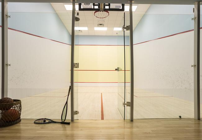 Squash Court Entry