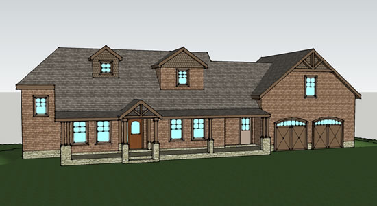 Proposed Project 3D Rendering Sunapee NH