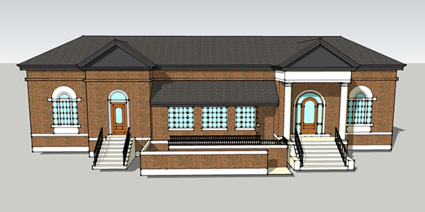 Proposed Library Renovation 3D Rendering Standish ME